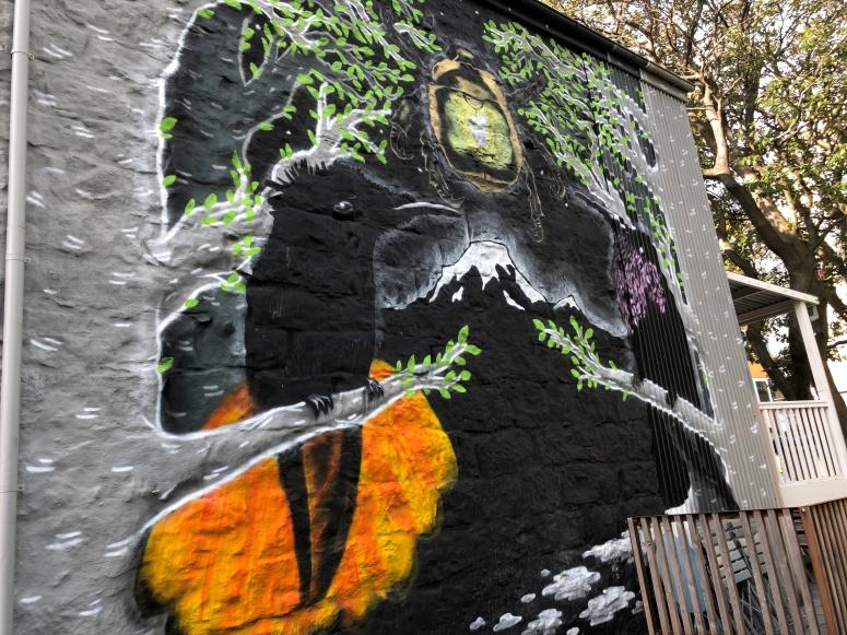 Ravens in Icelandic street art